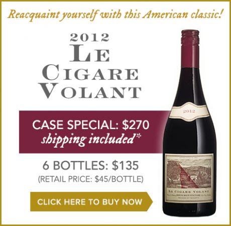 Reacquaint yourself with this American classic! 2012 Le Cigare Volant. Click here to buy now.