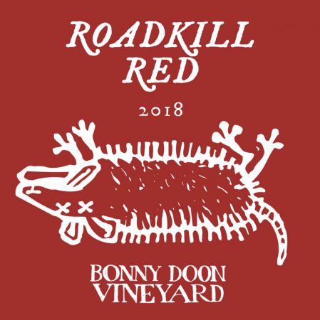 """Road Kill Red"" label"