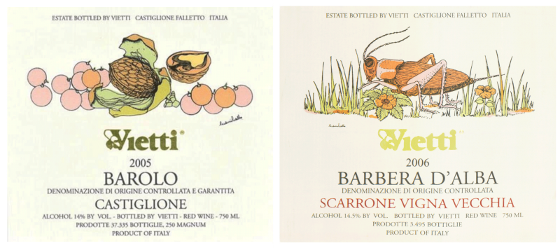 Gianni Gallo labels (Vietti)