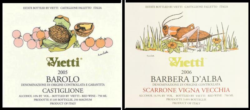 Gianni Gallo labels (Vietti)