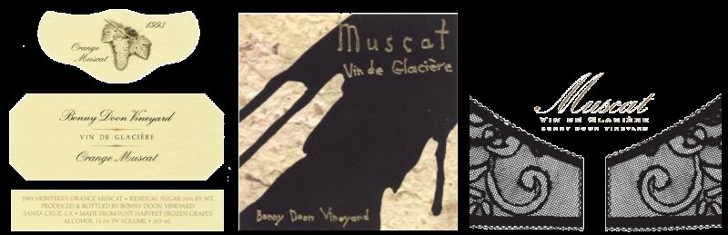 Muscat Vin de Glacière labels