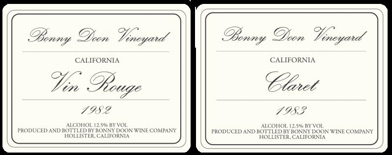 1982 BDV Vin Rouge, 1983 Claret label