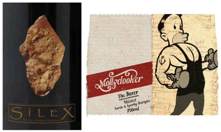 Daguinaux Silex label vs. Molly Dooker label